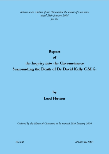 Hutton Report 2004 Title Page