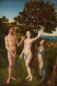 Hugo van der Goes's Fall of Man and the Lamentation (1470-1475)
